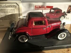 1932 Ford V8 Customised Coupe Doors and Bonnet Open 1/32 COA Nat Museum Ref A63