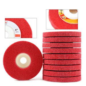 2/5/10Pcs 4 inch Nylon Fiber Polishing Wheel Sanding Abrasive Disc Buffing Pad