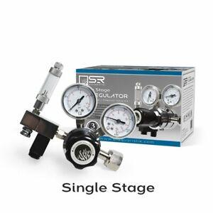 SR Aquaristik Single Stage CO2 Regulator Kit with Bubble Counter/Solenoid Valve