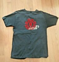 Mens Tshirt Black Tony Hawk Fame Print Over Headshot Skylines S//S Cotton NWT L S