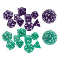 20pcs Multi-sided Dice D4 D6 D8 D10 D12 D20 D24 D30 D60 Dungeons D&D RPG DIY
