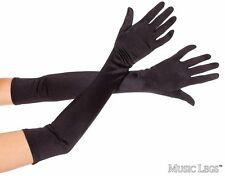 x-long BLACK SATIN OPERA STRETCH EVENING GLOVES/Pageant/CROSSDRESSER/DRAG QUEEN