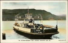 Car Ferry Boat Kelowna Westbank Okanagan Lake British Columbia Tinted RPPC