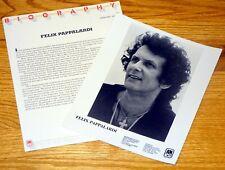 FELIX PAPPALARDI 2pc Original Promo Photo Press Kit Lot 1979 Don't Worry Ma