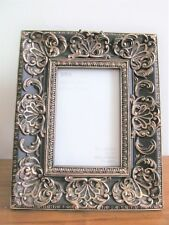 M&S BLACK AND GOLD DECORATIVE PHOTO FRAME 4 X 6''