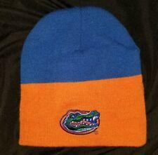 STARTER Florida Gators Beanie Skull Cap Hat Blue with Sewn Gator logo