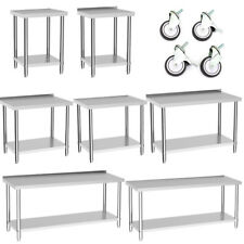 More details for commercial stainless steel work food prep table bench catering kitchen workbench