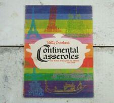 Vtg 1963 Betty Crocker's Continental Casseroles Booklet Instructions Cook Book