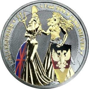Germania 2019 5 Mark Britannia Ruthenium 1 Oz 999 Silver Coin