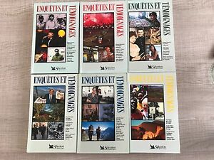 "LOT DE 6 LIVRES ""ENQUETES & TEMOIGNAGES"" - SELECTION READER'S DIGEST"