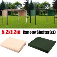 5.2x1.2m Sun Shade Pergola Canopy Outdoor Top Sun Shade Garden Patio Shelte