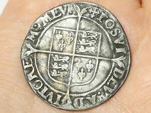 c1560-61 Elizabeth I Shilling mm Cross Crosslet Hammered Silver S2555 #LBB1