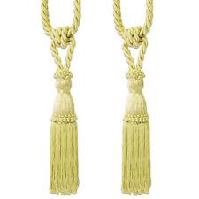 Decorative Rope Fringe Tassel Window Curtain Holdback Tie Back Pair 10 Colors