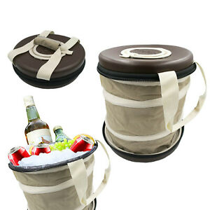 Portable Soft Sided Collapsible Cooler Bag Barrel Can Design Fully Insulated