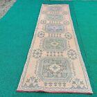 Vintage floor runner rugs,turkish home rugs,oushak rugs, hallway rugs,boho rug
