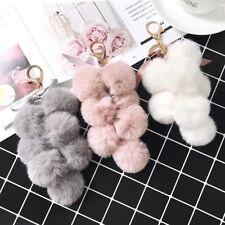Fashion Fluffy Fur Grape Grape Tassel Drop Dangle Keyrings Key Chain Accessory