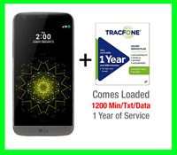 New LG G5 32GB TItan Gray Unlocked GSM/CDMA + $60 Net10 / $99 1 Year Tracfone