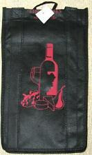 4 BOTTLE WINE TOTE GIFT BAG ~ NON-WOVEN POLYPROPYLENE ~ DECORATED FRONT Gr8 GIft