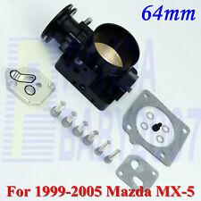 """2.5"""" 64mm AL Throttle Body For 1999-2005 Mazda Miata MX-5 1.8L L4 BP-4W BP-Z3 BK"""