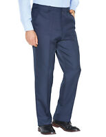 Mens Stretch Waist Formal Smart Work Trouser Pants