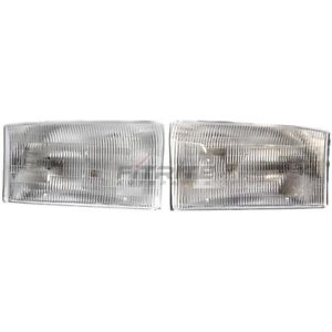 NEW SET OF TWO HALOGEN HEAD LAMP ASSEMBLY FITS FORD F-450 SUPER DUTY 1999-2001