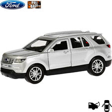 Diecast Vehicles Scale 1:36 Ford Explorer Silver Mid-size SUV Russian Model Car