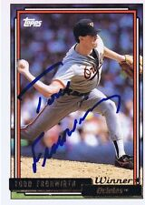 Todd Frohwirth 1992 Topps Gold Winner Autograph #158 Orioles