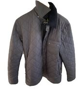 barbour mens quilted jacket XS Navy Worn Excellent Condition