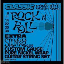 5 Pack! Ernie Ball 2255 Extra Slinky Pure Nickel Guitar Strings Free Ship U.S.