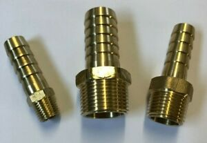 Brass Hose tail Fitting 3/8 BSP tapered Thread X Tail Connector barb Fuel Pipe