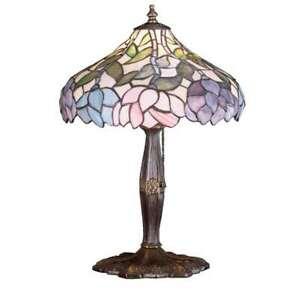 Meyda Lighting 17'H Wisteria Accent Lamp, Beige Pink Pr Purple/Blue 59 - 52134