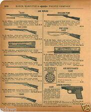 1920 PAPER AD Daisy Air Rifle Military Take Down Special Pop Guns Benjamin Pump