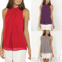 Summer  Women Sleeveless Chiffon Vest Womens T Shirt Blouse Loose Top plus size