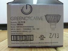 Green Creative 12pcs 95352 7MR16G3DIM/930NF25, MR16 GU5.3 7W-12W 3000k, LED Bulb