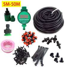 5-50M Garden Plant Automatic Self Water Micro Drip Irrigation System timer Sets
