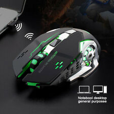 Gaming Mouse Mute Rechargeable X8 Wireless LED Backlit USB Optical Ergonomic