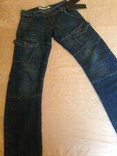 Men's Bench Mid Blue Denim Arc Fit Cargo Jeans Size 28W 32L