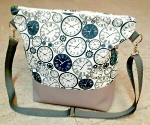 Damen Handtasche, Milow, Umhängetasche, Reisverschluß Handmade, Tasche Uhren
