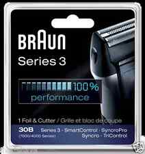 NEW BRAUN 30B 7000/4000 SERIES 3 SYNCRO Replacement Shaver/Razor FOIL+CUTTER SET