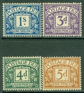 GREAT BRITAIN : 1936-7. Stanley Gibbons #D22-25 Very Fine, Mint OG LH. Cat £132