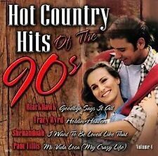 Hot Country Hits of the 90's 4 Various Artists MUSIC CD