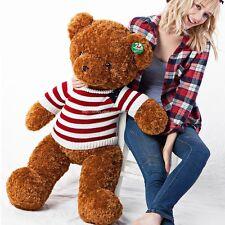 "100cm(39"") GIANT HUGE BIG BROWN TEDDY BEAR STUFFED ANIMAL PLUSH SOFT TOY GIFT"