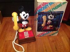 Vintage Mickey Mouse Phone With Box