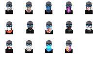 Face Shield Balaclava Scarf Neck Fishing Sun Gaiter Uv Headwear Mask 14 Styles