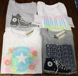Converse  Chuck Taylor T-Shirts Grafic Tee Girls Youth S, M, L, XL Multi Sizes