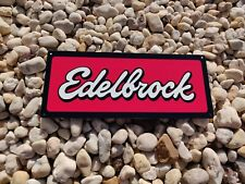 Edelbrock advertising metal sign Garage Shop Mancave New  5x12