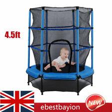 Children Trampoline Set 4.5FT With Safety Net Enclosure Kids Outdoor Garden Toy