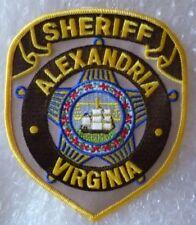 Patch Sheriff Alexandria Virginia US Police Patch (120 x 100 mm, New*)