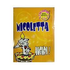 COMPLEANNO biglietto musicale canta nome NICOLETTA e TANTI AUGURI A TE