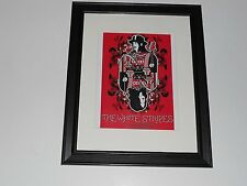 "White Stripes 2002 Jack White Tour Poster Moore Theater WA Framed Print 14""x17"""